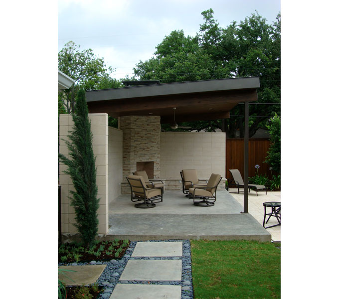 Partial remodel dallas tx architectura greg lorie for Contemporary outdoor living spaces